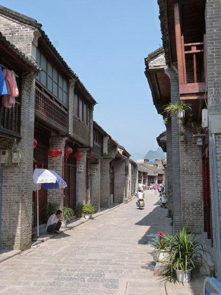Una tranquila calle de Xinping