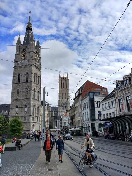Las torres medievales de Gante