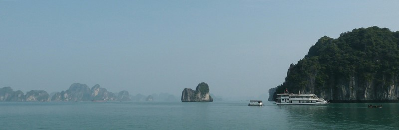 Nuestro barco en Ha Long