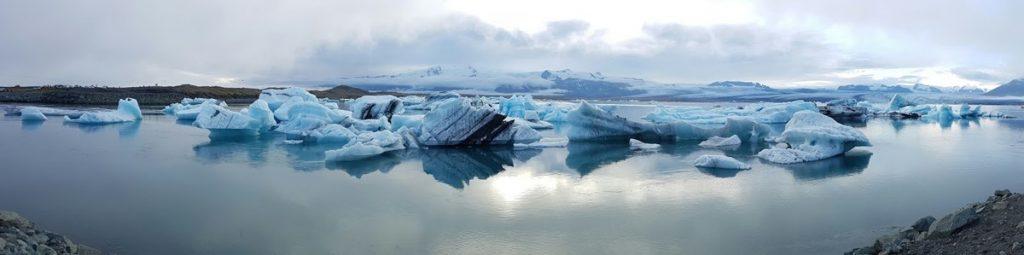 Panorámica de la laguna Jokulsarlon