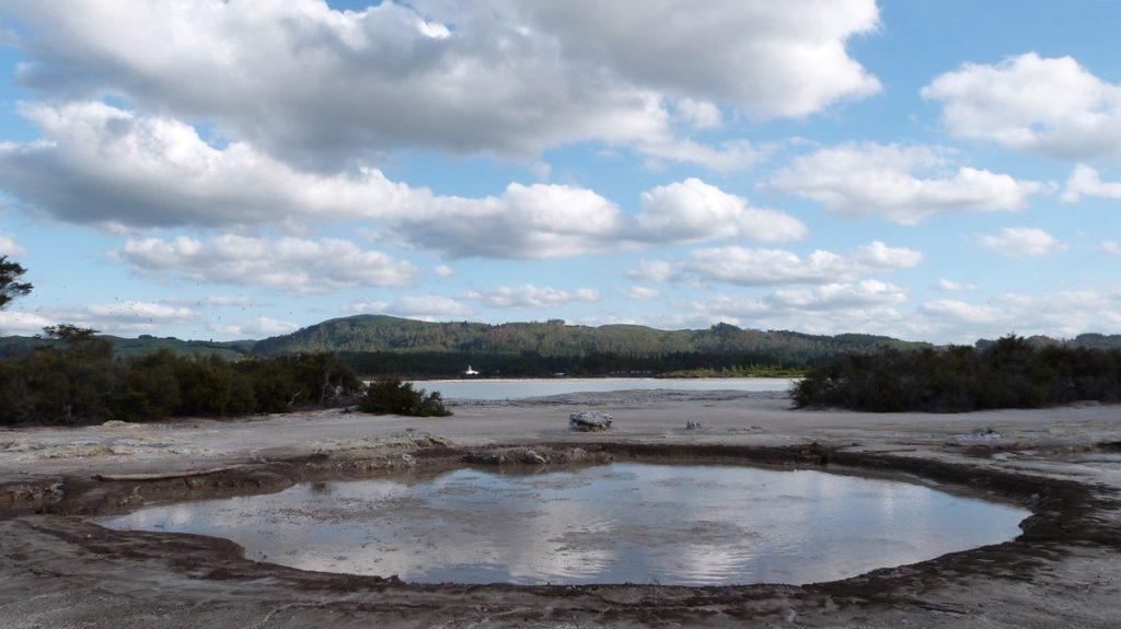 Zonas geotérmicas en Nueva Zelanda