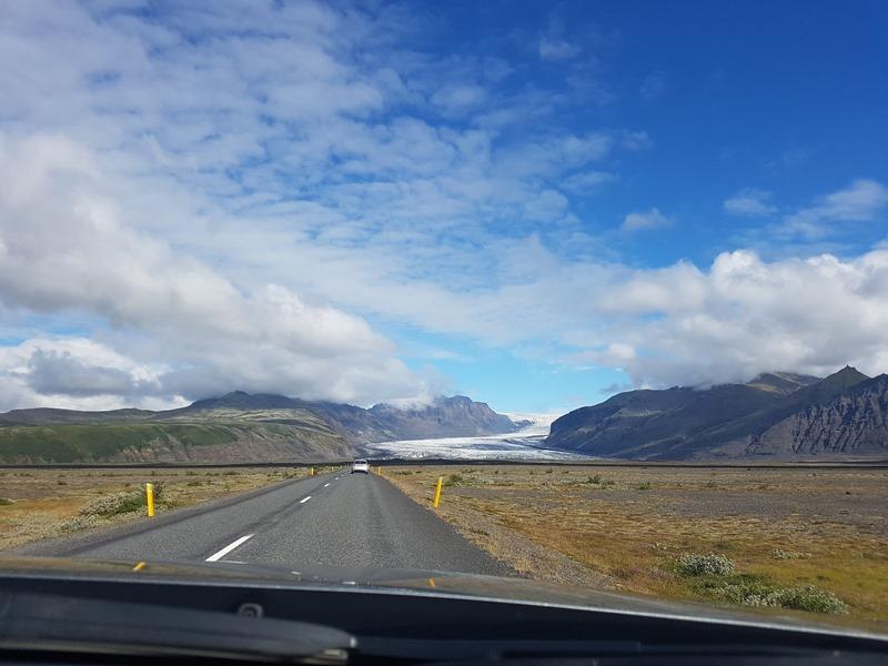 Conduciendo hacia Skaftafell