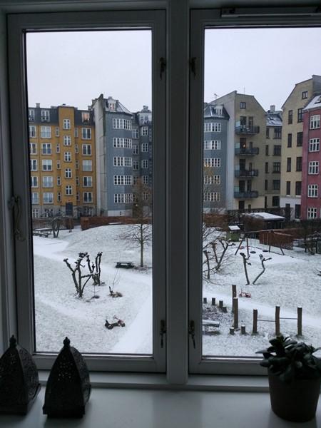 La nieve en CPH desde mi ventana