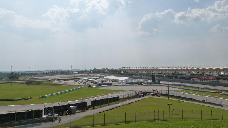 Nuestra vista del circuito de Sepang