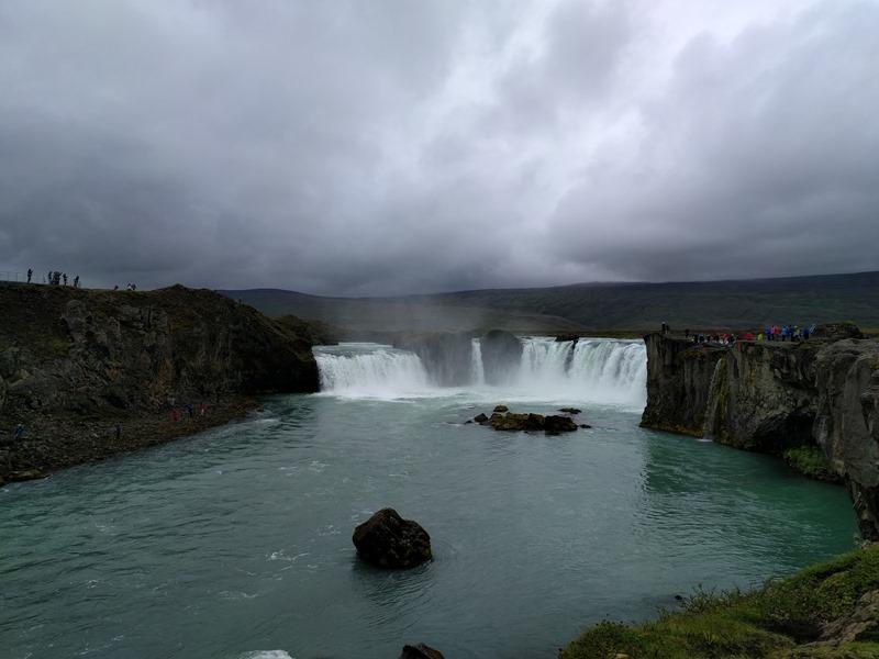 Panorámica de la cascada Góðafoss