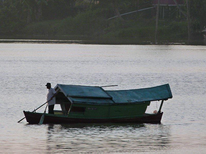 Barquero en Kuching