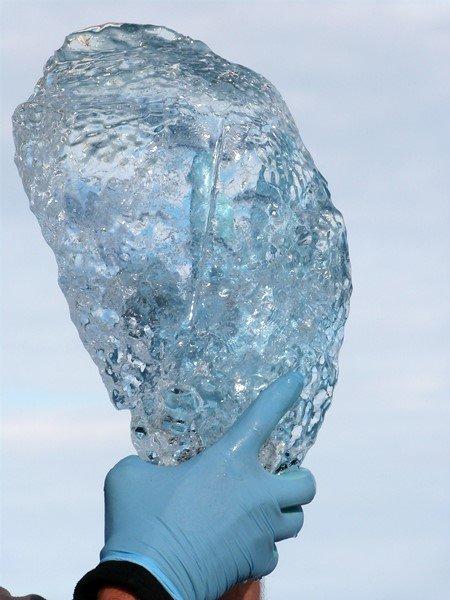 El hielo que probamos en Jökulsárlón