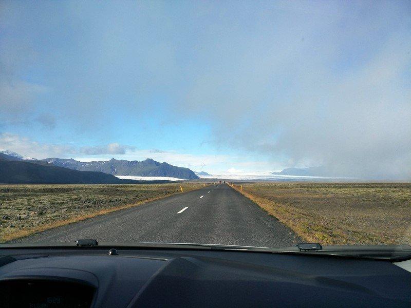En ruta hacia la laguna Jökulsárlón