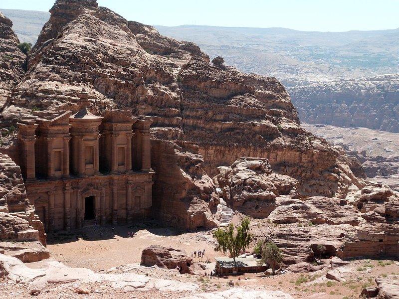 Panorámica del Monasterio de Petra