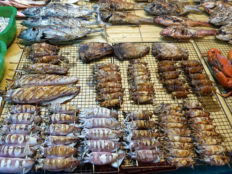 Pescado en el Filipino market