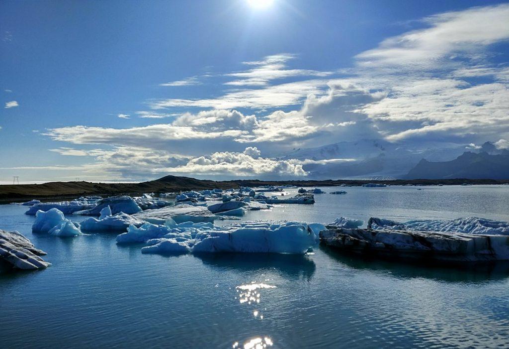 Primeras escenas del lago Jökulsárlón