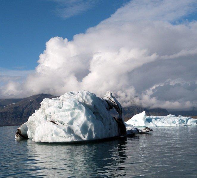 Un iceberg en Jökulsárlón
