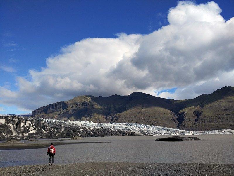 Vistas del glaciar Vatnajökull