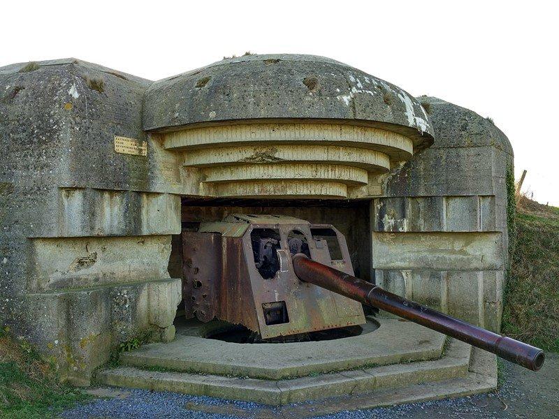 Baterías alemanas en Longues-Sur-Mer