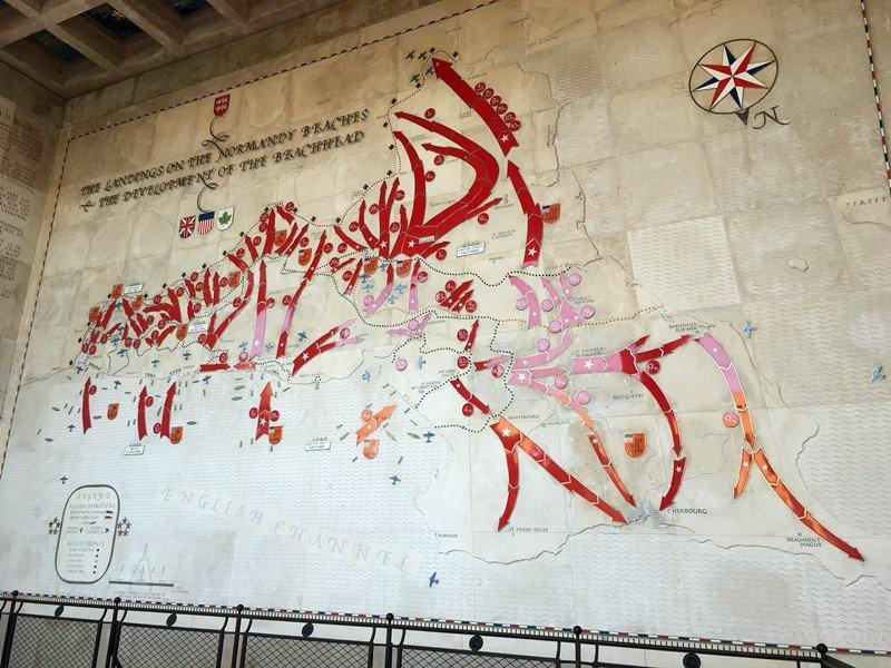 Mural del desembarco de Normandía