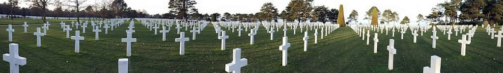 Panorámica del cementerio estadounidense