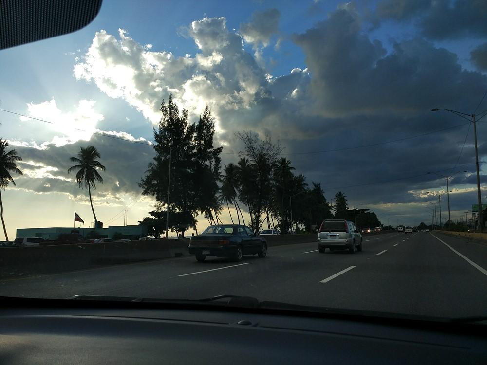 Circulando hacia Santo Domingo
