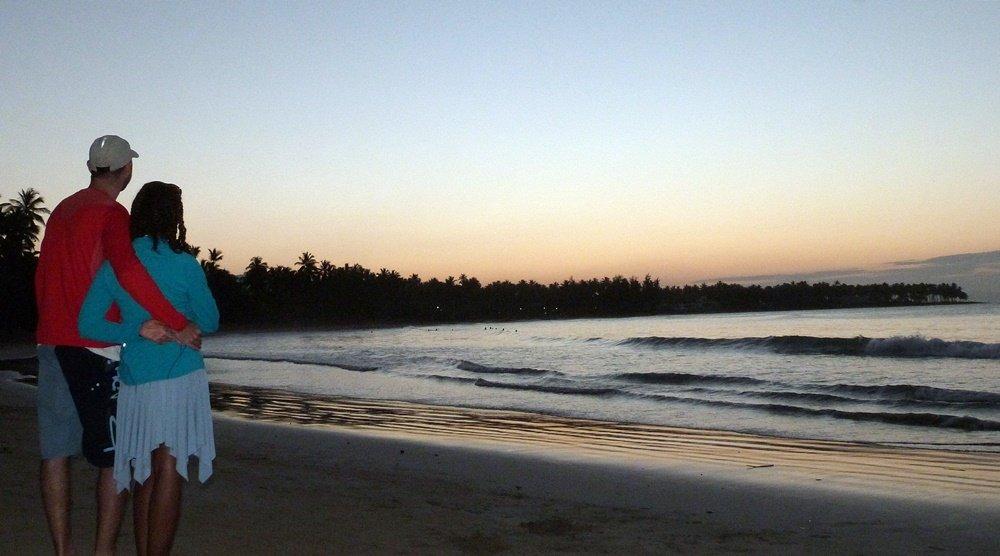 El último atardecer en Playa Bonita