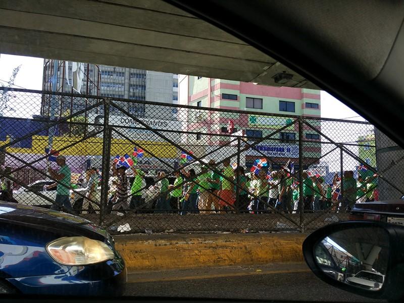 Manifestantes en Santo Domingo