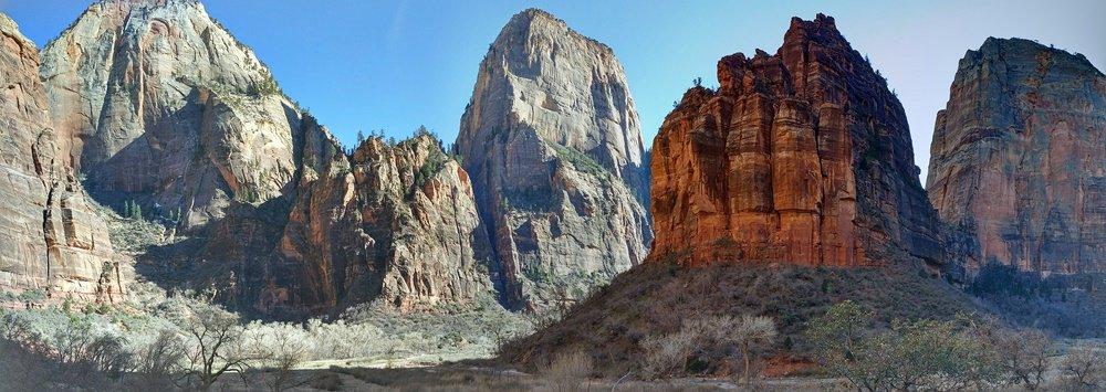 Panorámica de Zion Canyon