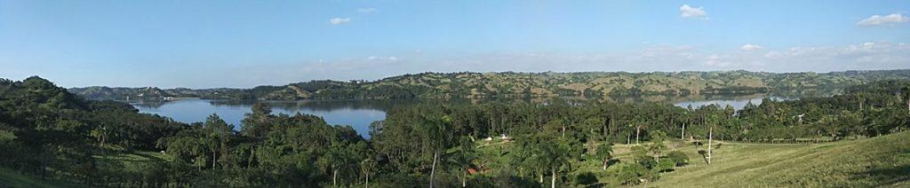 Panorámica de la presa de Taveras desde Villas del Lago