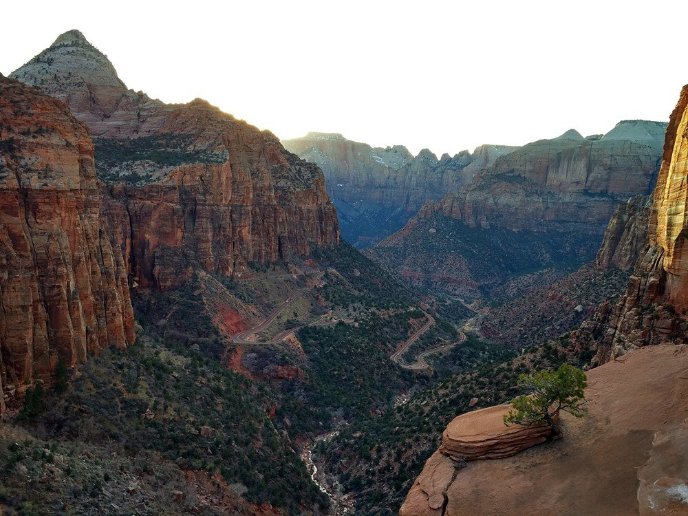 Vistas desde el mirador de Zion Canyon