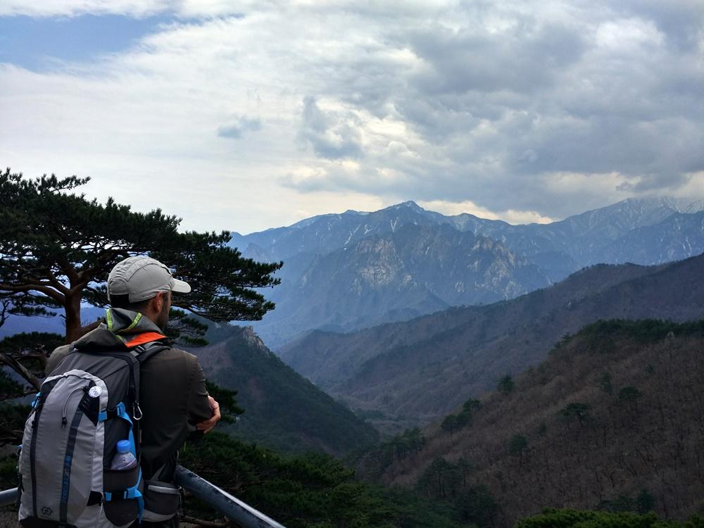 Contemplando Seoraksan desde el mirador