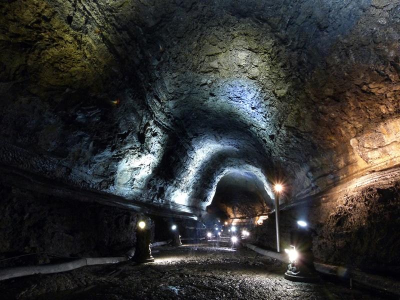 Detalles de la La cueva de Manjanggul