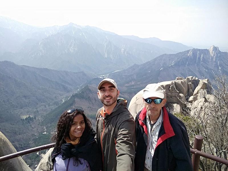 El equipo en la cima de Ulsanbawi