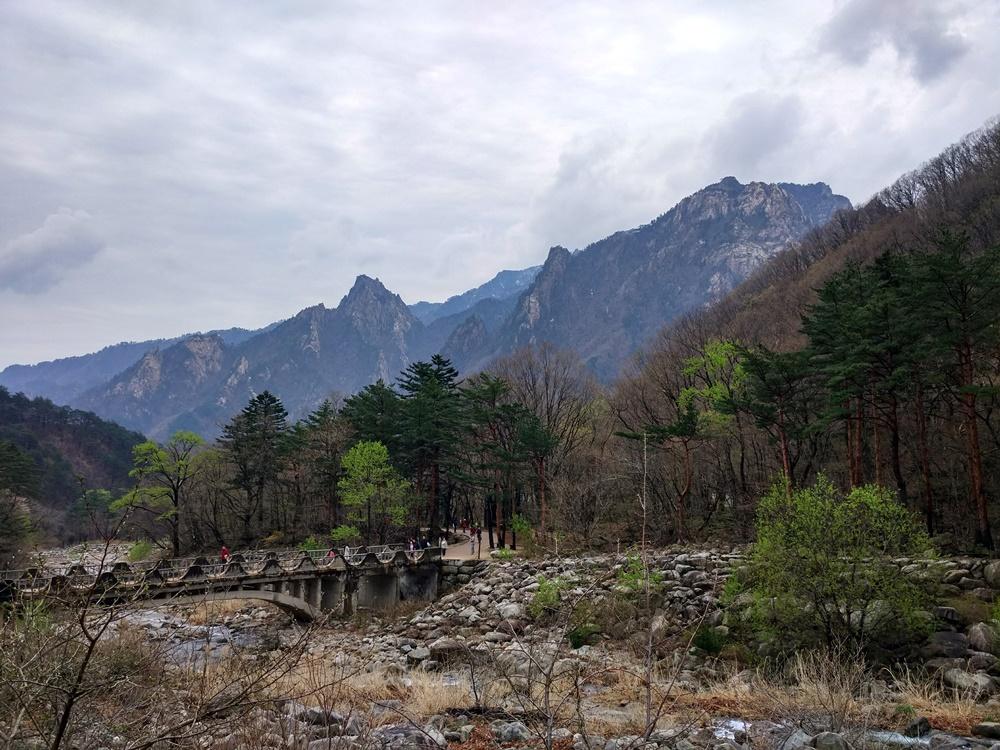 Las primeras vistas de Seoraksan