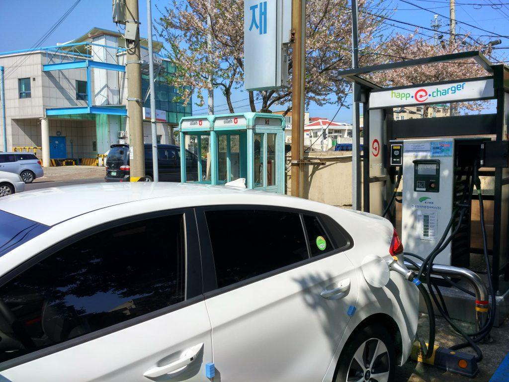 Realizando la primera carga del coche eléctrico