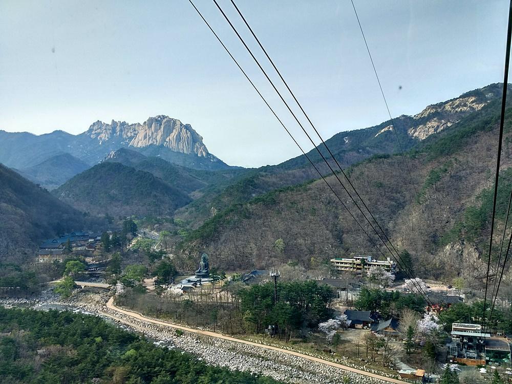 Vistas desde el teleférico de Seoraksan