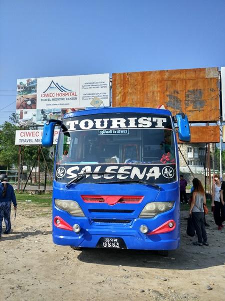 Autobús turístico en Pokhara