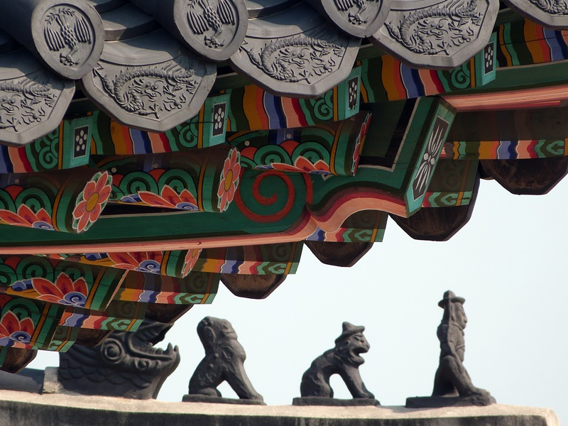 Detalle de arquitectura en Changgyeonggung
