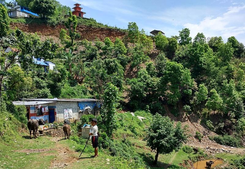 Escenas rurales en Pokhara