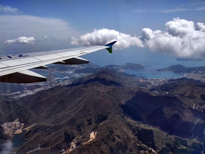 Sobrevolando Busan desde Jeju