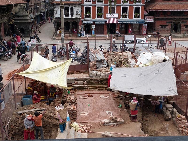 Trabajos en curso en Patan