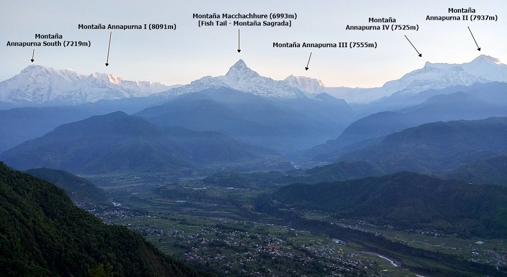 Annapurna Range - Panorámica al amanecer