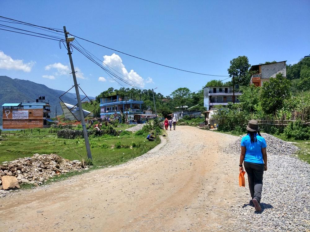 Caminando hacia Sarangkot