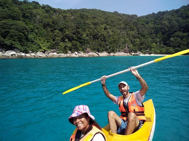 Disfrutando del kayak en Perhentian