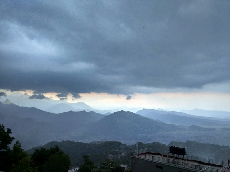 La tormenta llega a Sarangkot