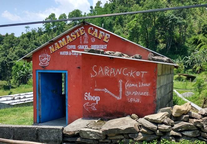 Señalización a Sarangkot