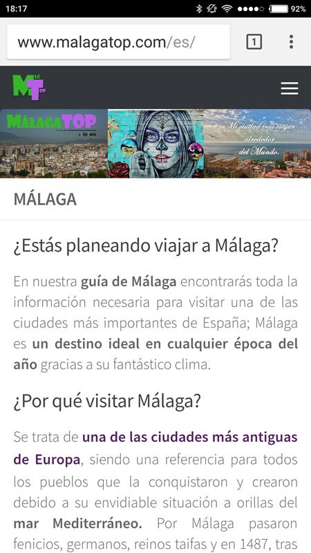 Málaga Top en versión móvil
