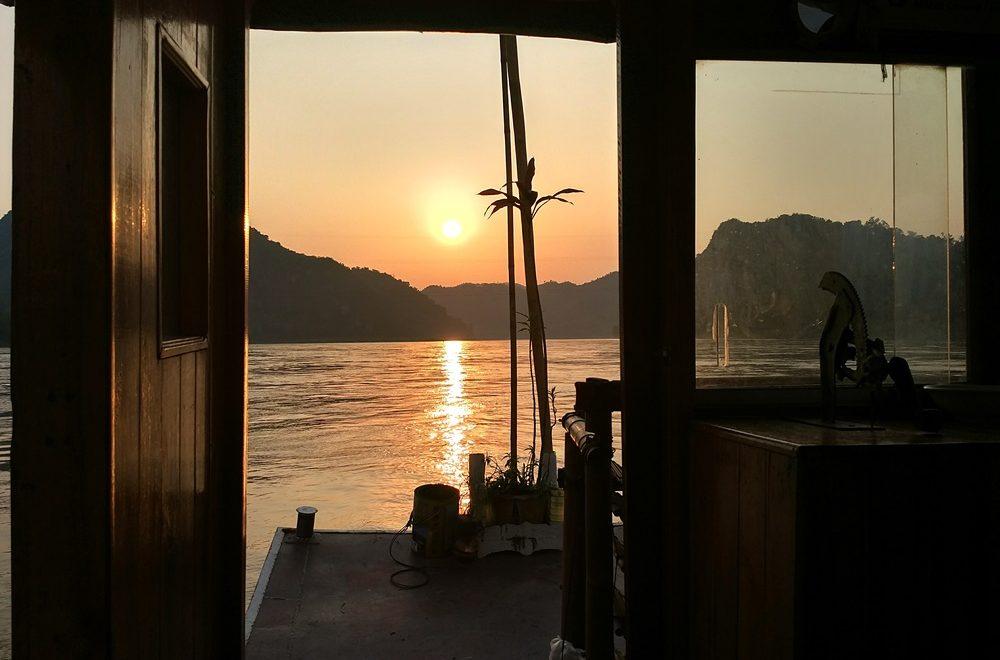 Atardecer desde el Mekong