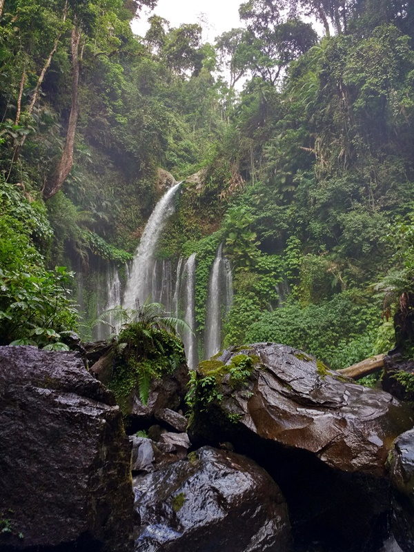 Llegando a la cascada de Tiu Kelep - Senaru - Lombok