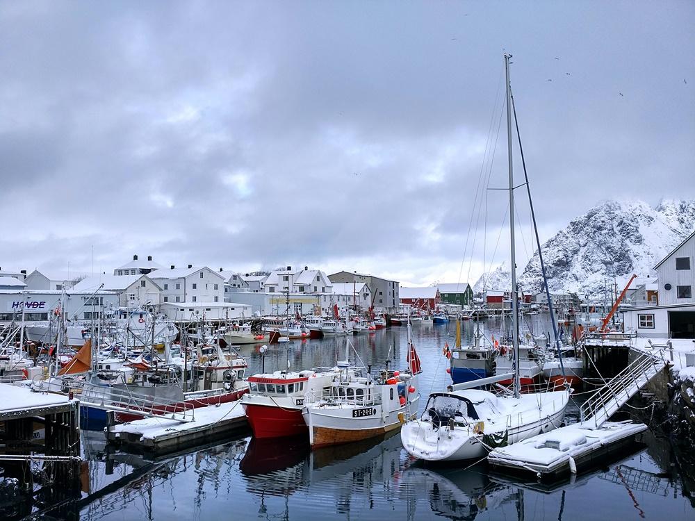 El puerto de Henningsvær