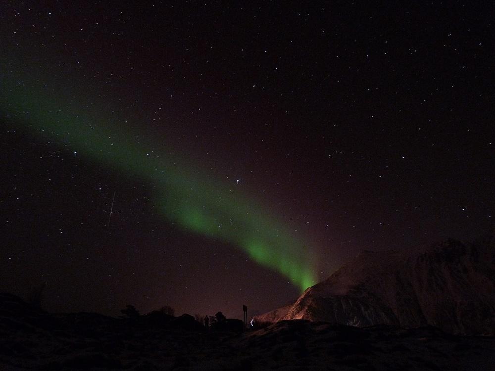 La primera aurora en las Lofoten