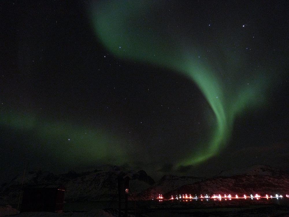 Luces del norte en Lofoten