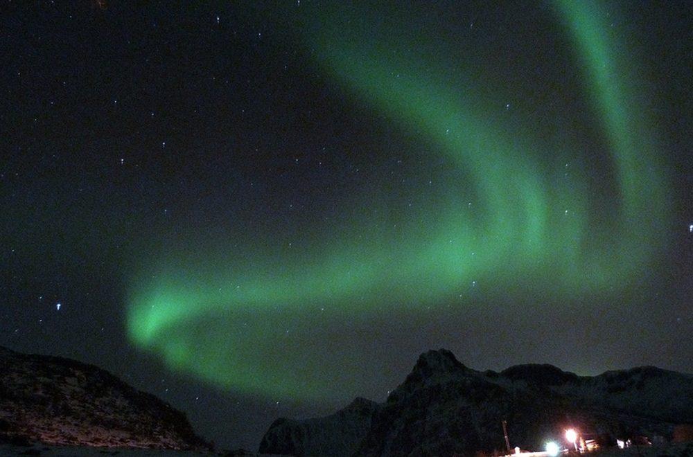 Auroras boreales en las islas Lofoten. Magia en el cielo de Noruega