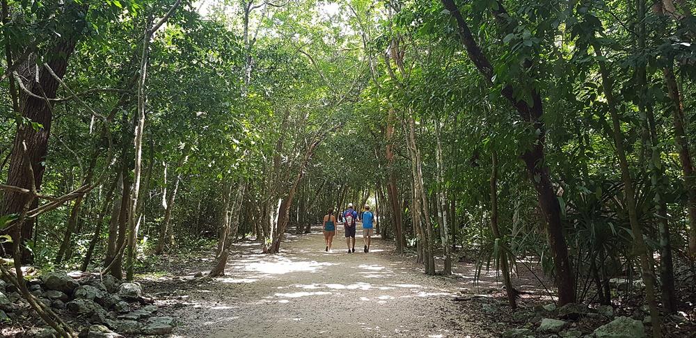 Caminando hacia las ruinas de Cobá